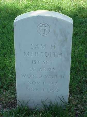 MEREDITH (VETERAN WWII), SAM H - Pulaski County, Arkansas | SAM H MEREDITH (VETERAN WWII) - Arkansas Gravestone Photos