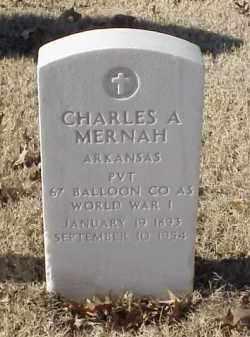 MERNAH (VETERAN WWI), CHARLES A - Pulaski County, Arkansas | CHARLES A MERNAH (VETERAN WWI) - Arkansas Gravestone Photos