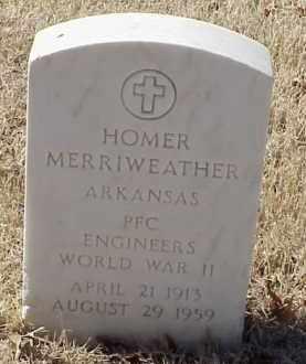 MERRIWEATHER  (VETERAN WWII), HOMER - Pulaski County, Arkansas | HOMER MERRIWEATHER  (VETERAN WWII) - Arkansas Gravestone Photos