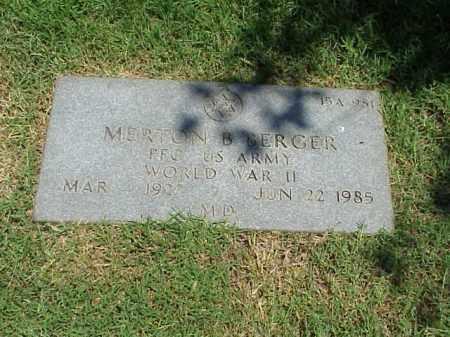 BERGER (VETERAN WWII), MERTON B - Pulaski County, Arkansas   MERTON B BERGER (VETERAN WWII) - Arkansas Gravestone Photos