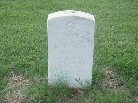 MERYMON (VETERAN WWI), DAVE NEWMAN - Pulaski County, Arkansas | DAVE NEWMAN MERYMON (VETERAN WWI) - Arkansas Gravestone Photos