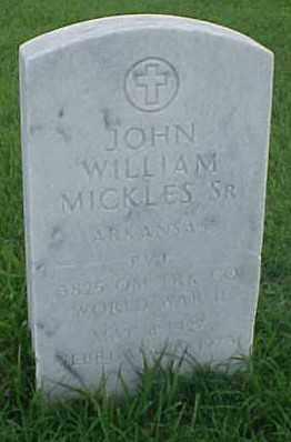 MICKLES, SR. (VETERAN WWII), JOHN WILLIAM - Pulaski County, Arkansas   JOHN WILLIAM MICKLES, SR. (VETERAN WWII) - Arkansas Gravestone Photos