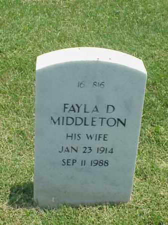 MIDDLETON, FAYLA D - Pulaski County, Arkansas | FAYLA D MIDDLETON - Arkansas Gravestone Photos