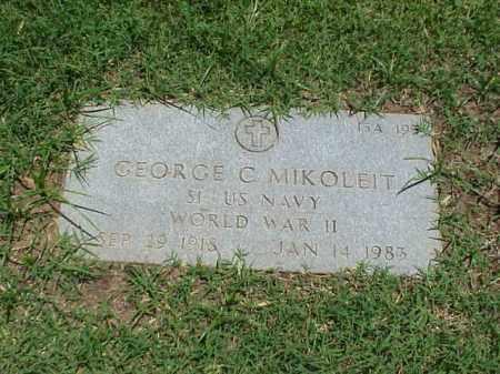 MIKOLEIT (VETERAN WWII), GEORGE C - Pulaski County, Arkansas   GEORGE C MIKOLEIT (VETERAN WWII) - Arkansas Gravestone Photos