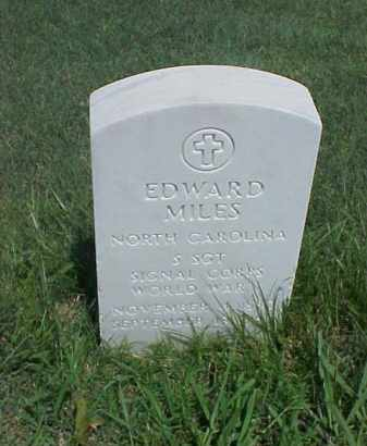 MILES (VETERAN WWI), EDWARD - Pulaski County, Arkansas   EDWARD MILES (VETERAN WWI) - Arkansas Gravestone Photos