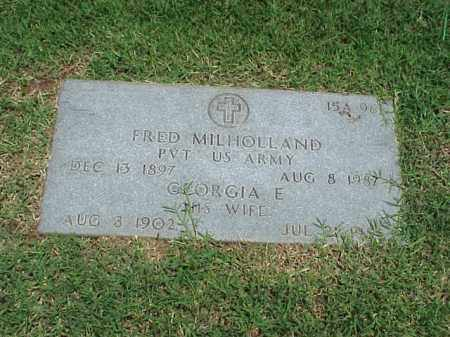 MILHOLLAND (VETERAN WWI), FRED - Pulaski County, Arkansas | FRED MILHOLLAND (VETERAN WWI) - Arkansas Gravestone Photos