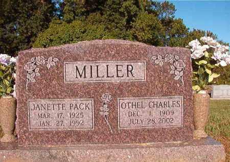 MILLER, OTHEL CHARLES - Pulaski County, Arkansas | OTHEL CHARLES MILLER - Arkansas Gravestone Photos