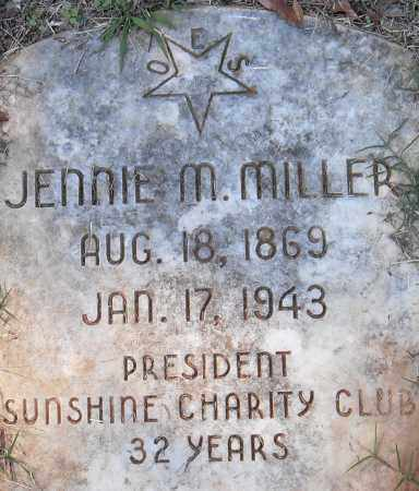 MILLER, JENNIE M - Pulaski County, Arkansas | JENNIE M MILLER - Arkansas Gravestone Photos