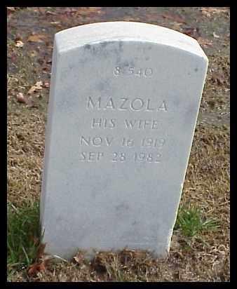 MILLER, MAZOLA - Pulaski County, Arkansas | MAZOLA MILLER - Arkansas Gravestone Photos