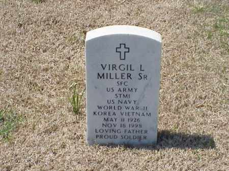 MILLER, SR (VETERAN 3 WARS), VIRGIL L - Pulaski County, Arkansas | VIRGIL L MILLER, SR (VETERAN 3 WARS) - Arkansas Gravestone Photos