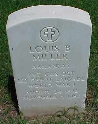 MILLER (VETERAN WWI), LOUIS B - Pulaski County, Arkansas | LOUIS B MILLER (VETERAN WWI) - Arkansas Gravestone Photos