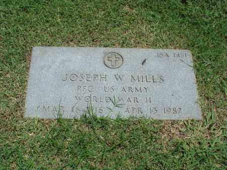 MILLS (VETERAN WWII), JOSEPH W - Pulaski County, Arkansas | JOSEPH W MILLS (VETERAN WWII) - Arkansas Gravestone Photos