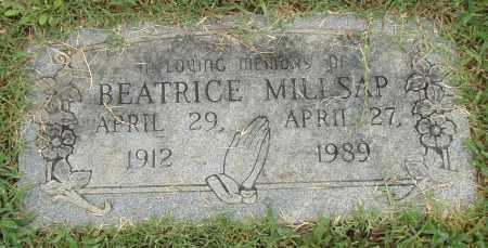 MILLSAP, BEATRICE - Pulaski County, Arkansas   BEATRICE MILLSAP - Arkansas Gravestone Photos