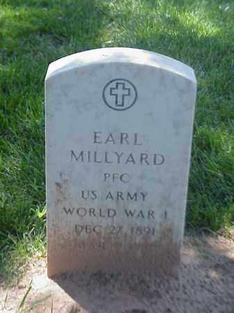 MILLYARD (VETERAN WWI), EARL - Pulaski County, Arkansas   EARL MILLYARD (VETERAN WWI) - Arkansas Gravestone Photos