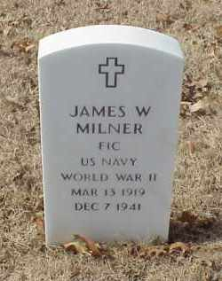 MILNER (VETERAN WWII), JAMES WILLIAM - Pulaski County, Arkansas   JAMES WILLIAM MILNER (VETERAN WWII) - Arkansas Gravestone Photos