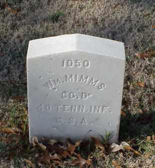 MIMMS (VETERAN CSA), WILLIAM - Pulaski County, Arkansas | WILLIAM MIMMS (VETERAN CSA) - Arkansas Gravestone Photos