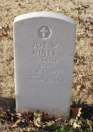 MINES (VETERAN WWII), JOE W - Pulaski County, Arkansas | JOE W MINES (VETERAN WWII) - Arkansas Gravestone Photos