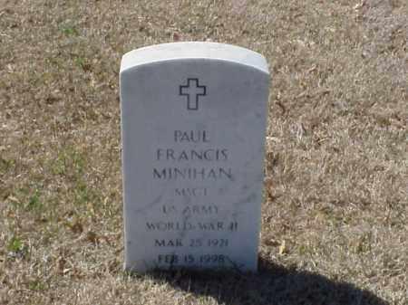 MINIHAN (VETERAN WWII), PAUL FRANCIS - Pulaski County, Arkansas | PAUL FRANCIS MINIHAN (VETERAN WWII) - Arkansas Gravestone Photos