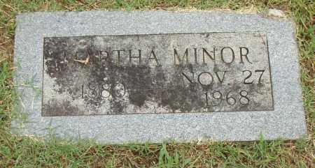 MINOR, MARTHA - Pulaski County, Arkansas | MARTHA MINOR - Arkansas Gravestone Photos