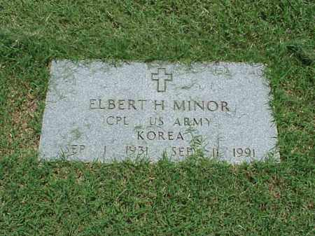 MINOR (VETERAN KOR), ELBERT H - Pulaski County, Arkansas | ELBERT H MINOR (VETERAN KOR) - Arkansas Gravestone Photos