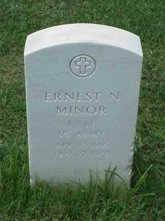 MINOR (VETERAN WWII), ERNEST N - Pulaski County, Arkansas | ERNEST N MINOR (VETERAN WWII) - Arkansas Gravestone Photos