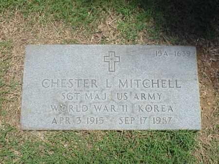 MITCHELL (VETERAN 2 WARS), CHESTER L - Pulaski County, Arkansas   CHESTER L MITCHELL (VETERAN 2 WARS) - Arkansas Gravestone Photos