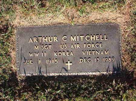 MITCHELL (VETERAN 3 WARS), ARTHUR C - Pulaski County, Arkansas   ARTHUR C MITCHELL (VETERAN 3 WARS) - Arkansas Gravestone Photos