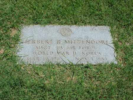 MITTENDORF (VETERAN 2 WARS), HERBERT R - Pulaski County, Arkansas   HERBERT R MITTENDORF (VETERAN 2 WARS) - Arkansas Gravestone Photos