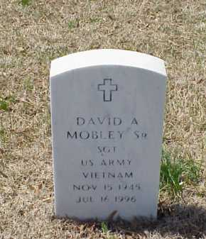 MOBLEY, SR (VETERAN VIET), DAVID A - Pulaski County, Arkansas   DAVID A MOBLEY, SR (VETERAN VIET) - Arkansas Gravestone Photos