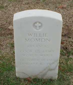 MOMON (VETERAN WWI), WILLIE - Pulaski County, Arkansas | WILLIE MOMON (VETERAN WWI) - Arkansas Gravestone Photos