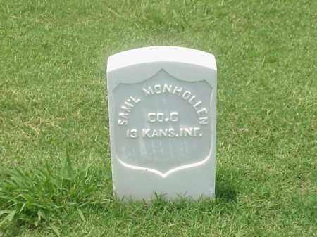 MONHOLLEN (VETERAN UNION), SAMUEL - Pulaski County, Arkansas   SAMUEL MONHOLLEN (VETERAN UNION) - Arkansas Gravestone Photos