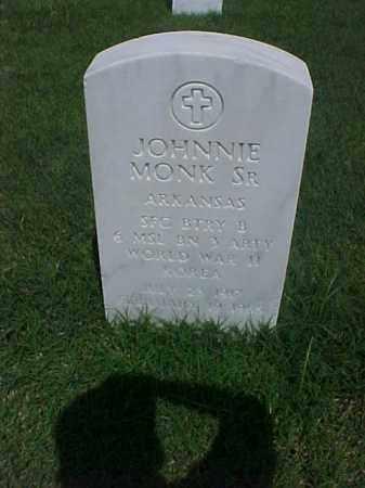 MONK, SR (VETERAN 2 WARS), JOHNNIE - Pulaski County, Arkansas | JOHNNIE MONK, SR (VETERAN 2 WARS) - Arkansas Gravestone Photos