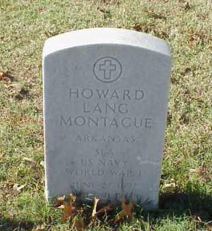 MONTAGUE (VETERAN WWI), HOWARD LANG - Pulaski County, Arkansas | HOWARD LANG MONTAGUE (VETERAN WWI) - Arkansas Gravestone Photos