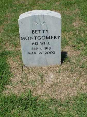 MONTGOMERY, BETTY - Pulaski County, Arkansas   BETTY MONTGOMERY - Arkansas Gravestone Photos