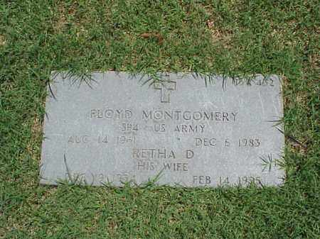 MONTGOMERY, RETHA D. - Pulaski County, Arkansas   RETHA D. MONTGOMERY - Arkansas Gravestone Photos