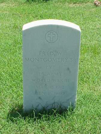 MONTGOMERY, SR (VETERAN WWII), FRED W - Pulaski County, Arkansas   FRED W MONTGOMERY, SR (VETERAN WWII) - Arkansas Gravestone Photos