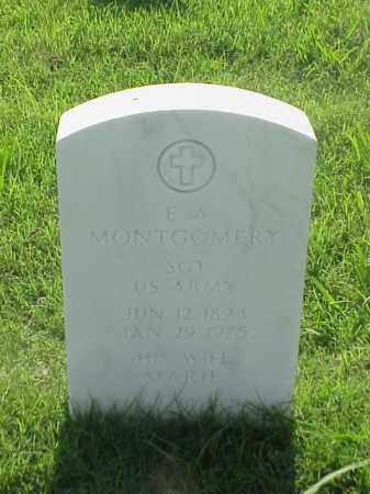 MONTGOMERY (VETERAN WWI), E A - Pulaski County, Arkansas | E A MONTGOMERY (VETERAN WWI) - Arkansas Gravestone Photos