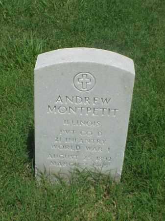 MONTPETIT (VETERAN WWI), ANDREW - Pulaski County, Arkansas | ANDREW MONTPETIT (VETERAN WWI) - Arkansas Gravestone Photos
