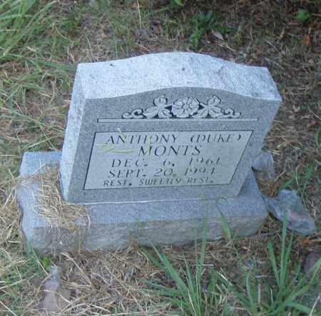 "MONTS, ANTHONY ""DUKE"" - Pulaski County, Arkansas   ANTHONY ""DUKE"" MONTS - Arkansas Gravestone Photos"