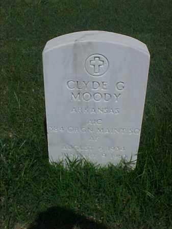 MOODY (VETERAN), CLYDE G - Pulaski County, Arkansas   CLYDE G MOODY (VETERAN) - Arkansas Gravestone Photos