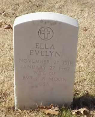 MOON, ELLA EVELYN - Pulaski County, Arkansas | ELLA EVELYN MOON - Arkansas Gravestone Photos