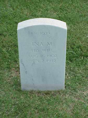 MOORE, INA M - Pulaski County, Arkansas | INA M MOORE - Arkansas Gravestone Photos