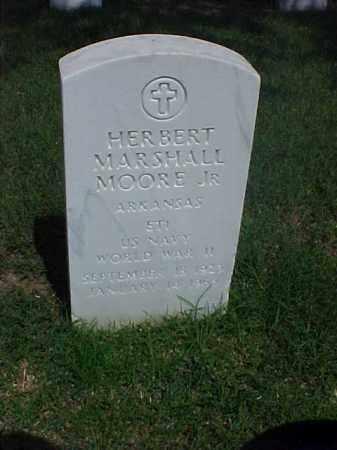 MOORE, JR (VETERAN WWII), HERBERT MARSHALL - Pulaski County, Arkansas   HERBERT MARSHALL MOORE, JR (VETERAN WWII) - Arkansas Gravestone Photos