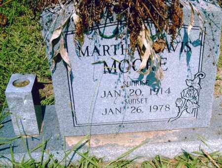 DAVIS MOORE, MARTHA - Pulaski County, Arkansas   MARTHA DAVIS MOORE - Arkansas Gravestone Photos