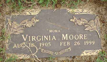 MOORE, VIRGINIA - Pulaski County, Arkansas | VIRGINIA MOORE - Arkansas Gravestone Photos