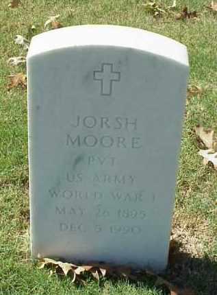MOORE (VETERAN WWI), JORSH - Pulaski County, Arkansas | JORSH MOORE (VETERAN WWI) - Arkansas Gravestone Photos