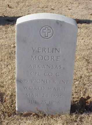 MOORE (VETERAN WWI), VERLIN - Pulaski County, Arkansas | VERLIN MOORE (VETERAN WWI) - Arkansas Gravestone Photos