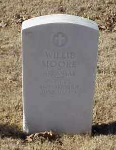 MOORE (VETERAN WWI), WILLIE - Pulaski County, Arkansas | WILLIE MOORE (VETERAN WWI) - Arkansas Gravestone Photos