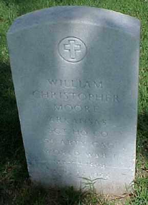 MOORE (VETERAN WWI), WILLIAM CHRISTOPHER - Pulaski County, Arkansas | WILLIAM CHRISTOPHER MOORE (VETERAN WWI) - Arkansas Gravestone Photos