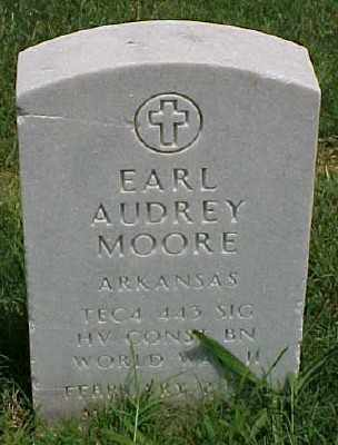 MOORE (VETERAN WWII), EARL AUDREY - Pulaski County, Arkansas   EARL AUDREY MOORE (VETERAN WWII) - Arkansas Gravestone Photos